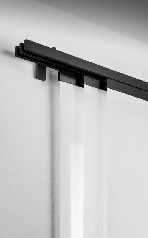Gardinenschiene Wandmontage Einlaufige Gardinenschiene