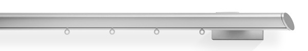 1-Lauf space mit Wandträger space, Farbe: alu-silber