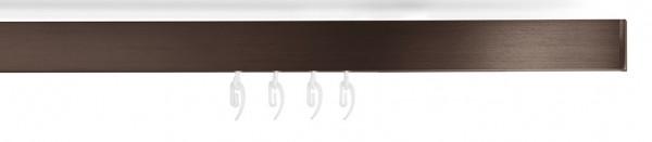 Design Fensterdekoration mit Vorhangstange -slim- bronziert