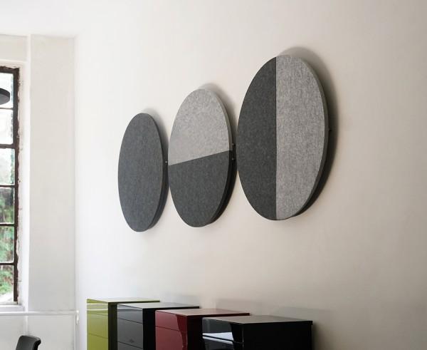 Wand-Set halbrund wall roundz Magnethalter