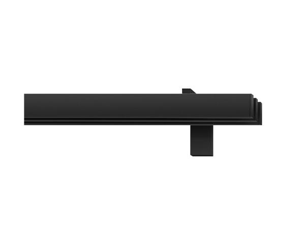 rail&roll mit Wandträger 3-Lauf Farbe schwarz