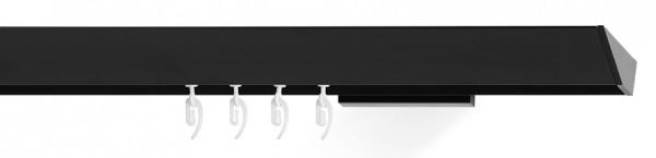 Design Vorhangstange für Design Architektur, Innenlauf EDGE auf Maß bestellen für Wandmontage schwarz