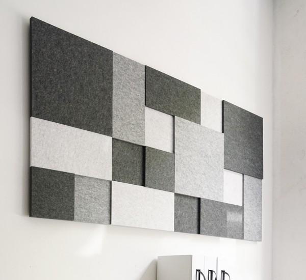 design elementz-Set mosaic, inkl. Montageboard Holz