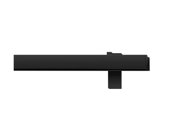 rail&roll mit Wandträger, 2-Lauf, Farbe: schwarz