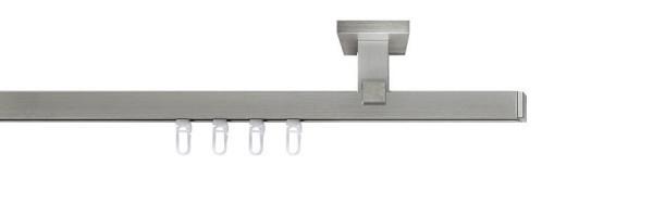 Gardinenstange vernickelt-matt Deckenmontage Innenlauf  end