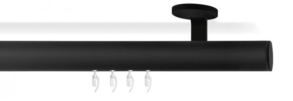 Wellenvorhang Designer Gardinenstange -SOFT- in schwarz