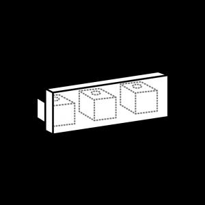 Endkappe track 3-Lauf