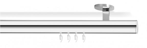 Gardinenen & Vorhänge mit Designer Gardinenstange -soft- (chrom)