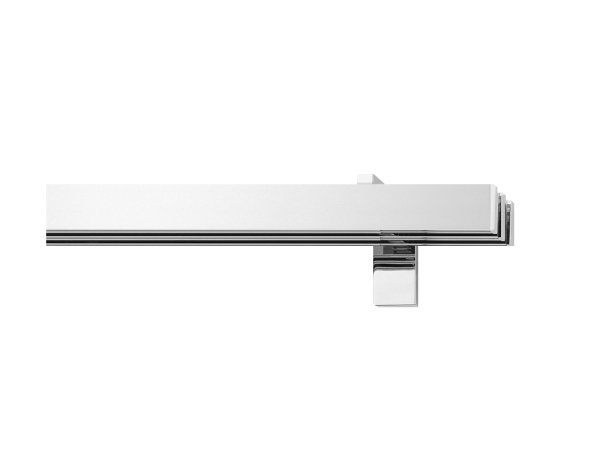 rail&roll mit Wandträger 3-Lauf Farbe chrom