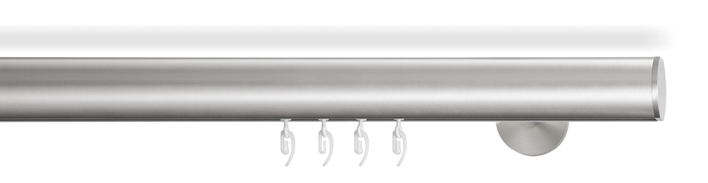 Gardinenstange Rund gardinenstange edelstahl - soft- die außergewöhnliche stange