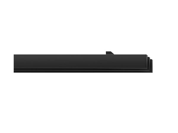 rail&roll mit Deckenträger 3-Lauf schwarz