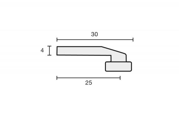 Deckenträger mini zur direkten Deckenmontage, Farbe: Weiss