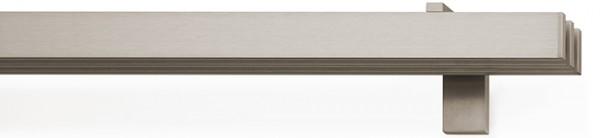 rail&roll mit Wandträger 3-Lauf Farbe vernickelt-matt